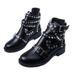 Women's PU Chunky Heel Boots With Rivet shoes