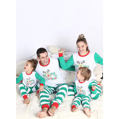 Deer Striped Cartoon Family Matching Christmas Pajamas Pajamas