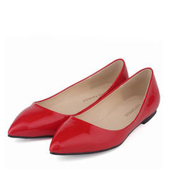Women's Patent Leather Flat Heel Flats Closed Toe With Others shoes