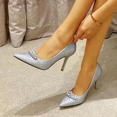 Femmes Pailletes scintillantes Talon stiletto Escarpins avec Strass chaussures