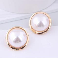 Stylish Simple Alloy Imitation Pearls With Imitation Pearl Earrings