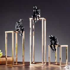 Moderní Kov Myslitel Figuríny a sochy