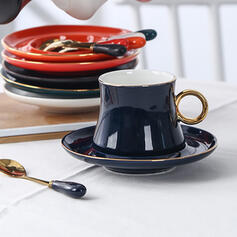 High Quality Ceramic Coffee Cup With Saucer