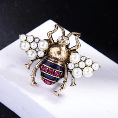 Shining Alloy With Imitation Pearl Women's Fashion Brooches