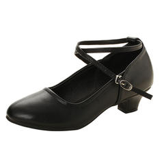 Women's Ballroom Swing Heels Leatherette With Buckle Latin
