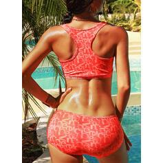 Low Waist Patchwork Strap Sports Bikinis Swimsuits