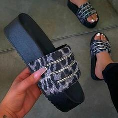 Frauen Kunststoffe Flascher Absatz Pantoffel Schuhe