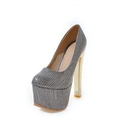 De mujer Cuero Tacón stilettos Salón Plataforma zapatos