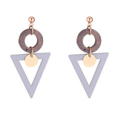 Fashionable Alloy Acrylic Women's Fashion Earrings (Set of 2)