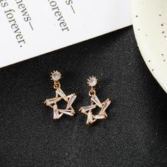 Типу зірки Сплав Стрази з Сіяючі камені Сережки
