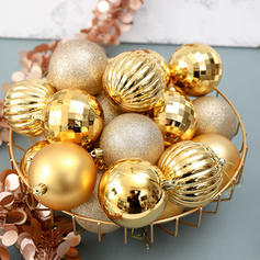 "Merry Christmas 34 PCS 1.57"" PVC Christmas Décor Ball (Set of 34)"