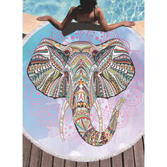 Tassel/Bohemia/Elephant/Animal Print Oversized/round/Multi-functional/Sand Free/Quick Dry/Animal Designed Beach Towel