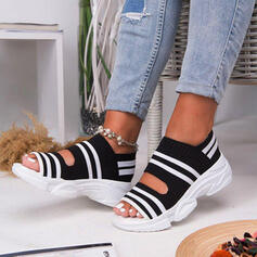 Women's Cloth Mesh Wedge Heel Sandals Peep Toe With Others shoes