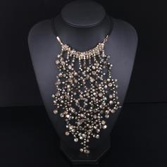 Beau Alliage Plaqué or avec Rivet Imitations de pierres Dames Collier de mode