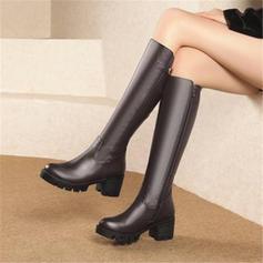Femmes Similicuir Talon bottier Escarpins Plateforme Bottes Bottes hautes avec Boucle chaussures