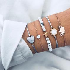 Exotique Alliage Résine Femmes Bracelets de mode (Lot de 5)