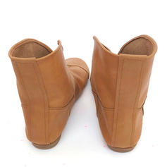 Women's Leatherette Flat Heel Ankle Boots With Others shoes
