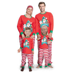 Santa Reindeer Letter Striped Family Matching Christmas Pajamas