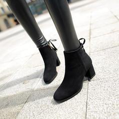 Femmes Suède Talon bottier Escarpins Bottes Bottines avec Zip Tassel chaussures