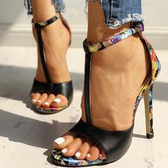 Vrouwen Doek Stiletto Heel Pumps Peep Toe met Dier Afdrukken schoenen