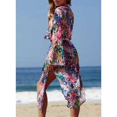 Leaves V-neck Sexy Fashionable Attractive Cover-ups Swimsuits