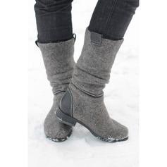Femmes Suède Talon bas Bottes avec Autres chaussures