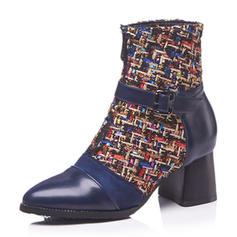 Femmes Similicuir Talon bottier Bottes avec Semelle chaussures