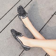 Femmes Similicuir Talon plat Chaussures plates avec Paillette Pailletes scintillantes chaussures