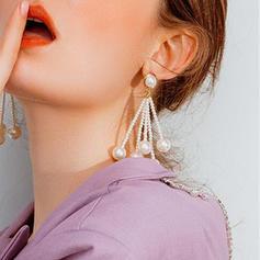 På mode Legering Imiteret Pearl Kvinder øreringe
