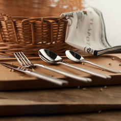 Contemporary Stainless Steel Flatware Set (Set of 4)