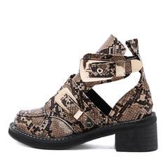 Pentru Femei PU Toc gros Cizme Botine cu Cataramă pantofi