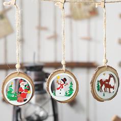 Schneemann Rentier Santa Weihnachten Hängend Weihnachtsdekoration Hölzern Weihnachtsanhänger Baum hängen Ornamente