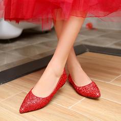 Femmes Pailletes scintillantes Talon plat Chaussures plates Bout fermé avec Pailletes scintillantes Autres chaussures