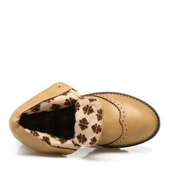 Bayanlar PU Düşük Topuk bot ayakkabı Ayak bileği çizmeler Martin Çizmeleri Ile Bağcıklı ayakkabı ayakkabı