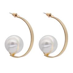 Unique Imitation Pearls Copper Ladies' Fashion Earrings