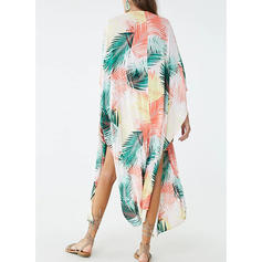 Tropical Print Cute Cover-ups Swimsuits