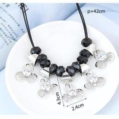Elegante Aleación Diamantes de imitación Circón con Rhinestone Señoras' Collar de la manera