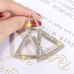 Shining Alloy Rhinestones Women's Earrings