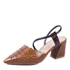 Naisten PU Chunky heel Avokkaat jossa Ontto-out kengät