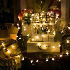 Fröhliche Weihnachten Star PVC Lichter Weihnachtsdekoration