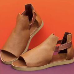 Naisten PU Matalakorkoiset Heel Sandaalit jossa Ontto-out kengät
