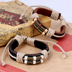 Stylish Alloy Leather Rope Unisex Fashion Bracelets (Sold in a single piece)