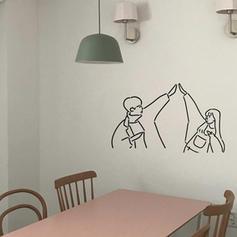 Moderní Libovolný tvar Lidé Samolepky na zeď