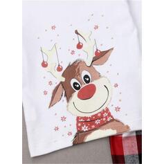 Venado Tela Escocesa Dibujos animados Familia a juego Pijamas De Navidad