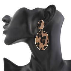 Leopard Alloy Women's Fashion Earrings (Sold in a single piece)