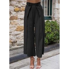 Les poches Froncé Grande taille Tondu Élégante Sexy Pantalon