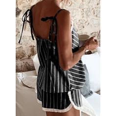V-Neck Sleeveless Print Attractive Top & Short Sets