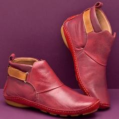 Dla kobiet PU Niski Obcas Kozaki Z Rzep obuwie