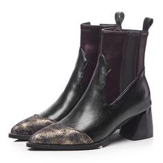 Dámské PU Široký podpatek Boty S Zip obuv