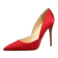 Femmes Satiné Talon stiletto Escarpins Bout fermé chaussures